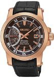 Seiko SRG016P1 Men's Premier,Kinetic Direct Drive,Stainless Steel Case & Leather Strap,SRG016