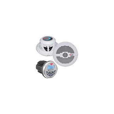 Planet Audio PGR35B 3.5 Gauge Marine MP3/Radio Receiver Bluetooth+2) Speakers