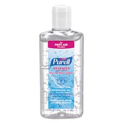 Case Sanitizer Hand (Purell Instant Hand Sanitizer 4oz Squeeze Bottle with flip top 24 per case)