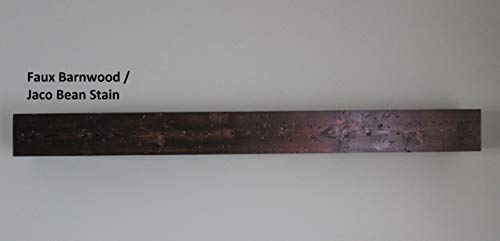 """6 1/4"""" Deep Rustic Fireplace Mantels Faux Barn Wood You choose Stain/Beams Floating Shelves -"""
