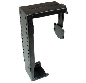 CPU Holder for Under Desk Mount Adjustable to fit Almost Any CPU Computer Tower