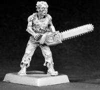 Zombie Boss with Chainsaw Chronoscope Miniature Figures by Reaper Miniatures