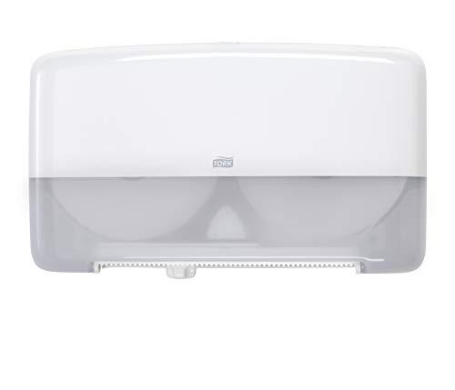 (Tork 5555200 Elevation Twin Mini Jumbo Bath Tissue Roll Dispenser, 10.125