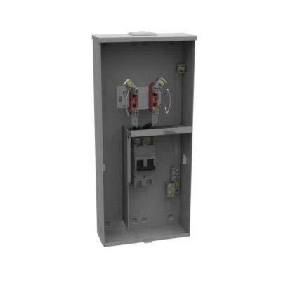 Milbank U3990-XL-200 Ringless Meter Socket, 240 VAC, 200 A, 1 Phase, NEMA 3R Enclosure