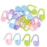 (CJESLNA Pack of 50pcs Small Size Random Color Lock Plastic Ring Markers for Knitting 50pcs Knitting Crochet Locking Stitch Markers)