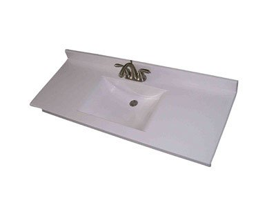 Imperial Marble W2522spw Vanity Top Wave Bowl Series 25