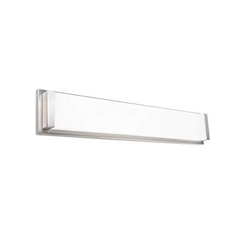 - WAC Lighting WS-180127-30-BN Metro Energy Star LED Bathroom Vanity & Wall Light, 27 Inches, Brushed Nickel