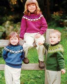(Sheep Go Round, Too! Fair Isle Pullover Pattern FTCH35x Fiber Trends by BEV Galeskas)
