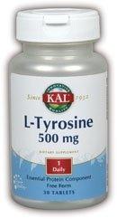 Kal 500 Mg L-tyrosine Tablets, 30 Count