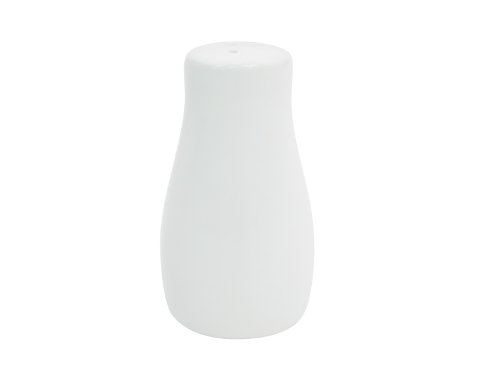 CAC China CN-PS Accessories 1-Inch by 1-3/4-Inch by 3-3/8-InchInch Super White Porcelain Pepper Shaker, Box of 48