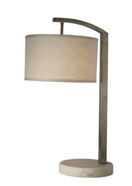 Trend Lighting TT8212 Station Table Lamp, Brushed Nickel (Lamp Nickel Trend Table)
