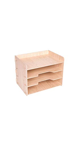 Desktop Multi-Layer Bookshelf Fiberboard Wood File Box Storage & Storage Table Dormitory Student Shelf & Children's Bookshelf & Office Storage Rack