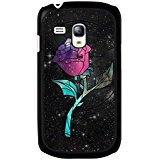 667 Hipster - Galaxy S3 Mini Cover Shell Fashion Black Magic Rose Disney Cartoon Beauty And The Beast Phone Case Cover for Galaxy S3 Mini Anime Popular