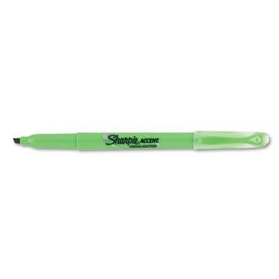 Sharpie Accent Products - Sharpie Accent - Accent Pocket Style Highlighter, Chisel Tip, Fluorescent Green, 12/Pk - Sold As 1 Dozen - Features SMEAR GUARD™ ink specially formulated to not ()