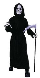 Big Boys' Reaper Costume Standard (Up to 12) (Horror Girls)