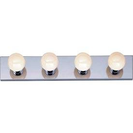Livex Lighting 1144-25 Basics 4-Light Bath Light, Polished Brass Backplate 85%OFF