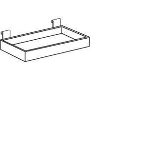 Clear Gridwall Shelf, 12 x 8 x 2 ()