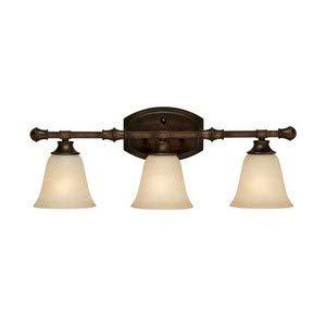 Capital Lighting 1333BB-287 Vanity with Mist Scavo Glass Shades, Burnished Bronze -