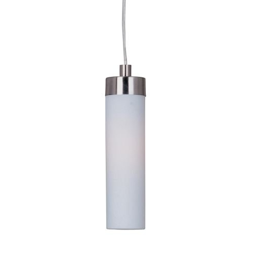 ET2 E63009-11 Cilandro 1-Light Pendant Mini Pendant, Satin Nickel Finish, Matte White Glass, G24q-2 Quad T4 CFL Fluorescent Bulb, 10W Max., Dry Safety Rated, Standard Dimmable, Natural Fiber Shade Material, 2300 Rated Lumens