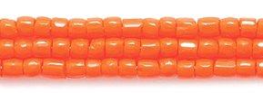 (Preciosa Ornela Czech 3-Cut Style Seed Glass Bead, Size 9/0, Opaque Dark Orange)