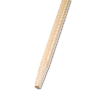 Tapered End Broom Handle, Lacquered Hardwood, 1 1/8 Dia. x 60 Long, Sold as 1 Each