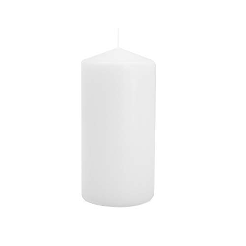 Candles4Less - 3 x 6 White Pillar Candles (Bulk 12Pcs) Unscented Lead Free Cotton Wicks