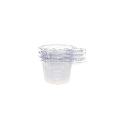 Mocase 100pcs Disposable Plastic Medicine Urine Cups 40ml