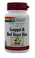 Cheap Solaray Guggul Gum Extract & Red Yeast Rice | Healthy Cardiovascular Function Support | Ancient Chinese Medicine & Ayurvedic Medicine Combo | 60ct