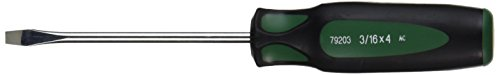 Cushion Grip Slotted Screwdrivers - SK Hand Tool 79203 Keystone Slotted Cushion Grip Screwdriver, 3/16 X 4-Inch