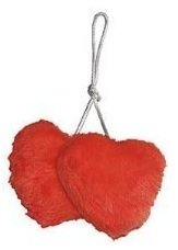Pair of New Car Caravan /& Home Red Valentines Fluffy Furry Hanging Mirror Love Hearts