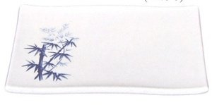 JapanBargain S-2332 Bamboo Melamine Sushi Plate 8x5.5in #509B-BZ