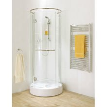 Round Corner Shower Enclosure With Hinged Door Amazon Co