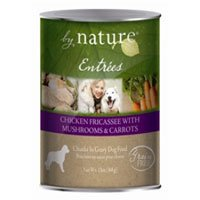 BY NATURE 392133 12-Pack Entree Chicken Fricassee with Mushrooms and Carrots Food for Pets, 13-Ounce, My Pet Supplies