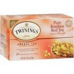 Twinings African Rooibos Red Tea, 20-Count Tea Bags (Pack of 6) ( Value Bulk Multi-pack)