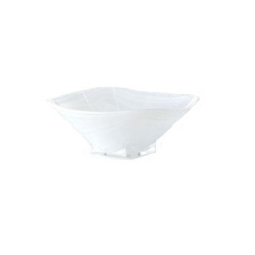 Shiraleah Small White Polished Alabaster Squared Bowl ()