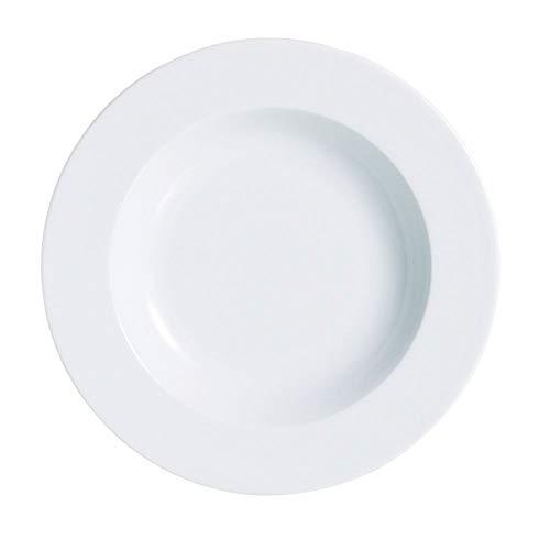 (Arcoroc R0807 Candour White 12 Oz. Soup Plate - 12 / CS)