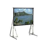 Cinefold HDTV Format - Projection screen with heavy duty legs - 133 in ( 338 cm ) - 16:9 - Rear Cineflex