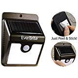 (ONTEL Ever Brite Motion Activated Solar Power Outdoor LED Light – No Tools Required, Peel and Stick, Black – As Seen On TV)