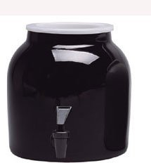 Ceramic Water Dispenser - Solid Black