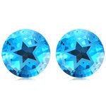 Mysticdrop 9.5-10.71 Cts of 10 mm Texas Star AAA Matching Loose Swiss Blue Topaz (2 pcs) Gemstones by Mysticdrop (Image #3)