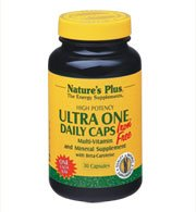 - Natures Plus Ultra One Iron Free - 90 Easy to Swallow Capsules - Once Daily Multivitamin and Mineral Supplement, High Potency - Vegetarian, Gluten Free - 90 Servings
