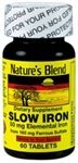 Blend Iron - Nature's Blend Slow Iron 50 mg (160 mg) Compare to Slow Fe® 60 Tablets