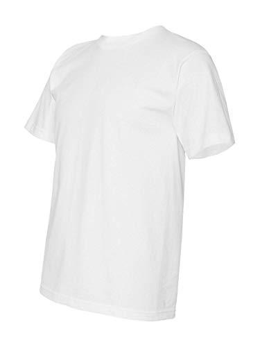 Bayside Adult Full Cut Short Sleeve Basic T-Shirt, WHITE, Large (Bayside Adult Tshirt)