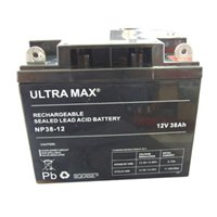 ULTRAMAX NP38-12 - 12V 38Ah 'AGM' DEEP CYCLE BATTERY - SOLAR POWER STORAGE