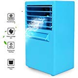 Julvie Portable Mini Small Air Conditioner Fan 9.5-inch...