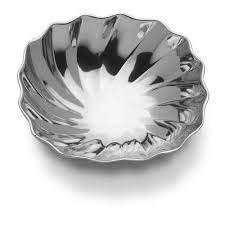"Wilton Armetale Eddy Square Medium Bowl, 9"""