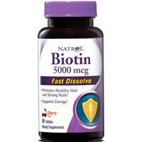 Natrol Biotin 5000 Mcg Fast Dissolve Strawberry, 90 Count