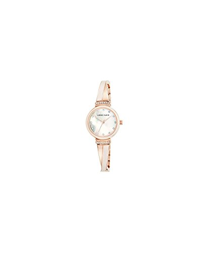 Pink Bangle Watch (Anne Klein Women's AK/2216BLRG Swarovski Crystal-Accented Rose Gold-Tone and Blush Pink Bangle Watch)