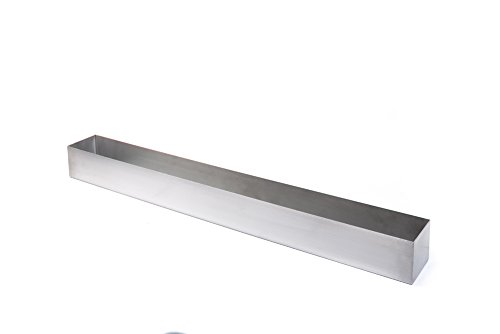 Veradek Geo Trough Planter, 3-Inch Height by 3.5-Inch Width by 32-Inch Length, Stainless Steel (GEVTRSS) (Trough Lightweight Planters)