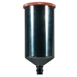 Astro Pneumatic Aluminum Gravity Feed Cup with Screw-on Lid - 1 Liter Capacity (AST-PCU3501S)